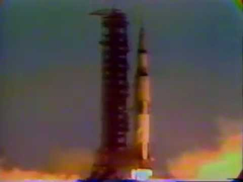 Lift-off, we have a lift-off on Apollo 11. Tower cleared ...