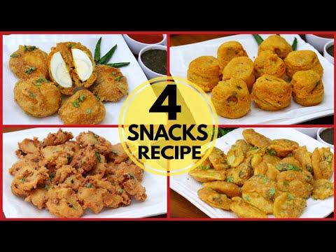 Ramzan Special 4 Amazing Snacks Recipe  आज इफ्तार में बनाये 4 तरह के नाश्ता। Iftar Recipes 2019