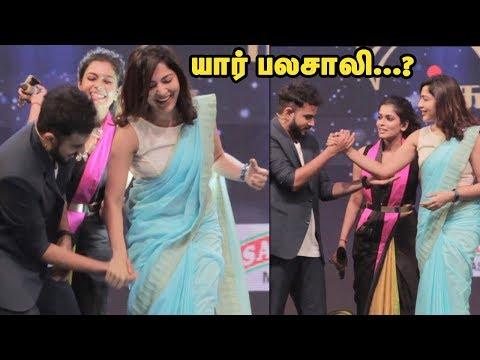 யார் பலசாலி...? V.J.Ramya vs Mirchi Vijay Semma Fun Game on Stage   VJ.Ramya   Rj vijay   VJ Kiki