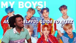 An Actually Kinda Helpful Guide To ATEEZ By Unebine | BLACK GUY REACTS TO K POP