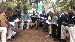 Bunge la Mwananchi leaders get formally sworn in at the Jeevanjee gardens-Nairobi
