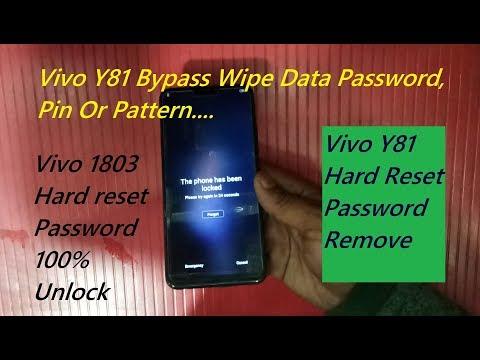 Vivo Y91i, Y81, Y83, Y83 Pro Pattern Lock Reset vivo y91i pattern