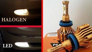 Installation & Test AuxBeam LED Headlights H11 (H8/H9) 6500K 6000LM without error