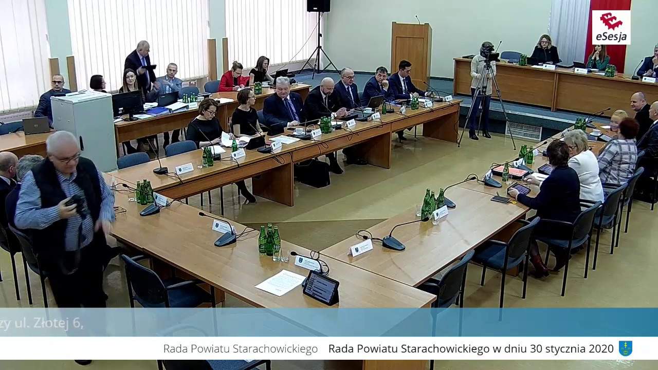 XVII Sesja Rady Powiatu w Starachowicach 30.01.2020r.