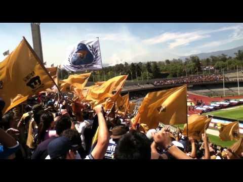 """""""la rebel desplegando banderas (pumas vs tigres) 14 de abril 2013"""" Barra: La Rebel • Club: Pumas"""