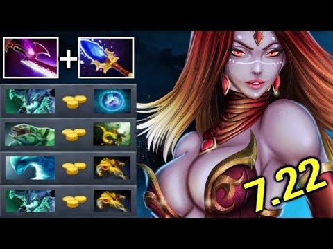 KAMEHAMEHA Scepter Pro Lina Pure Damage vs Magic Resistance 1 Sec Dragon Epic Gameplay 7.22 Dota 2