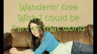 Miley Cyrus Part Of Your World-With Lyrics