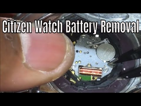 How To ReplaceThe Battery On Your Citizen Eco Drive  Capacitor Solar Watch Battery