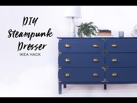 Steampunk Kommode - IKEA Hack für Vintage-Freunde