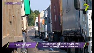 Температурный режим на дорогах Одесской области: десятки фур стоят на обочинах