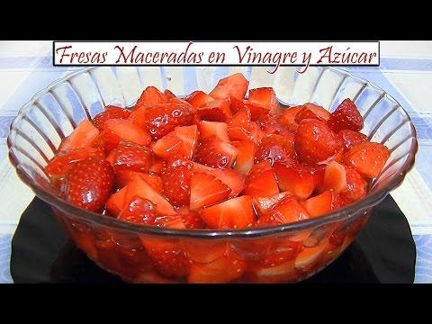 🍓 Fresas Maceradas en Vinagre y Azúcar | Receta de Cocina en Familia