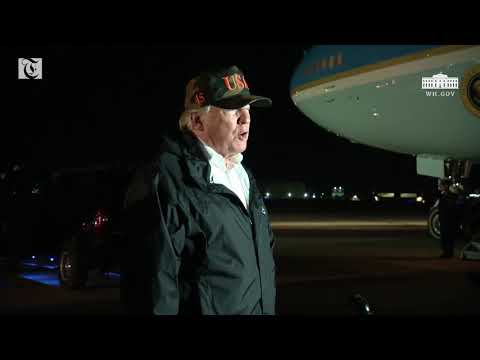 President Trump delivers statement from Point Mugu Naval Air Station