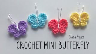 Crochet Mini Butterfly Applique