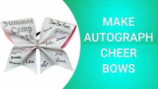 How To Make Autograph Cheer Bows