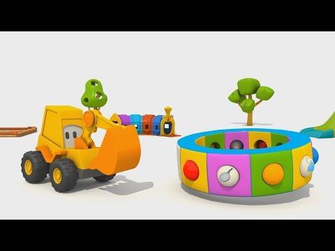 Cartoni Animati per Bambini - Cartoni Animati - L'escavatore Max e la giostra: le stoviglie