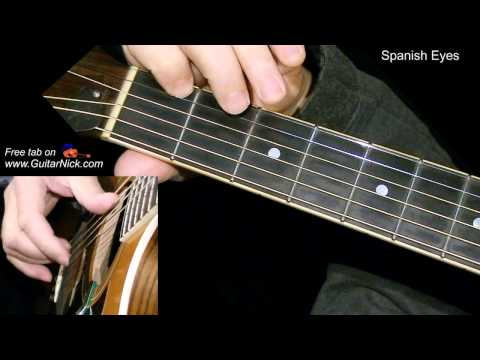 SPANISH EYES: Easy Guitar Lesson + TAB + CHORDS by GuitarNick