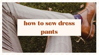 How To Sew Dress Pants - A Pants Sew-Along Of Sewing Pattern V8890