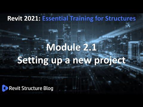 Revit 2021 Training For Structures Essentials Module 2.1 - YouTube