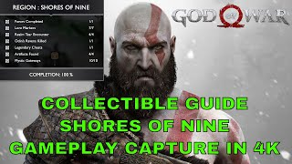 Shores of Nine All Collectible Locations Guide (God of War 2018)