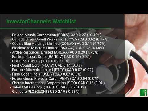 InvestorChannel's Cobalt Watchlist Update for Tuesday, Jul ... Thumbnail