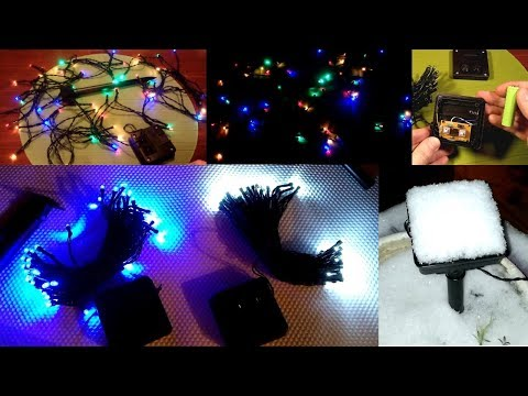 Solar Power LED Lights for decoration - Unboxing, Taking Apart and Snow Testing