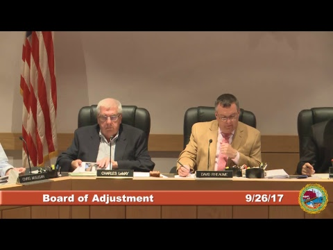 Board of Adjustment 9.26.2017