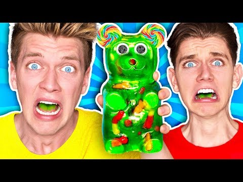 Mixing Every Sour Candy! *WORLDS SOUREST GIANT GUMMY* Learn How To Make DIY Food Prank Challenge