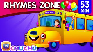 Wheels On The Bus | Popular Nursery Rhymes Collection for Children | ChuChu TV Rhymes Zone  00:47 - Wheels On The Bus Go Round and Round  03:26 - Johny Johny Yes Papa 05:27 - Chubby Cheeks 08:44 - Five Little Ducks Went Our One Day 11:15 - BINGO Dog Song 14:27 - Baa Baa Black Sheep 17:12 - Little Bo Peep 20:13 - Hey Diddle Diddle 22:49 - Hickory Dickory Dock 25:11 - Itsy Bitsy Spider 27:31 - Hot Cross Buns 30:09 - Colors Song 33:08 - ABC Song 35:56 - Numbers Song 40:46 - One Two Buckle My Shoe 43:14 - Humpty Dumpty Sat On A Wall 45:42 - Jack & Jill Went Up The Hill 48:06 - Head Shoulders Knees & Toes 50:38 - Row Row Row Your Boat  Welcome to ChuChu TV Rhymes Zone Collection Volume 2. Take your kids to a virtual bus journey where they will enjoy and learn popular nursery rhymes, ABC Songs, Colors,Numbers etc. This collection includes Wheels On the Bus, Johny Johny Yes Papa, Baa Baa Black Sheep, Old Mac Donald Had A Farm, Row Row Row Your Boat, Itsy Bitsy Spider, Five Little Monkeys, ABC Songs, Numbers Rhymes and many more.  =============================================== Video: Copyright 2017 ChuChu TV® Studios Music and Lyrics: Copyright 2017 ChuChu TV® Studios ChuChu TV ®, Cutians ®, all the characters and logos  used are the registered trademarks of ChuChu TV Studios ===============================================