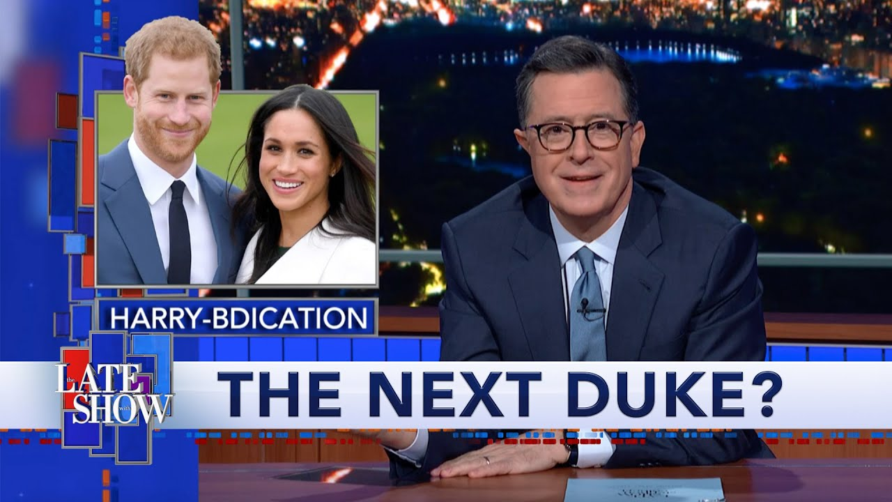 Harry & Meghan Are Out. Could Stephen Colbert Be The Next Duke Of Sussex? thumbnail