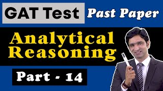 NTS GAT General Test Analytical Reasoning Preparation | GAT General Test Past Papers