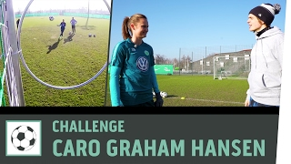 Ziel-Schießen-Challenge Vs. Profi-Spielerin Caroline Graham Hansen | VfL Wolfsburg | Kickbox