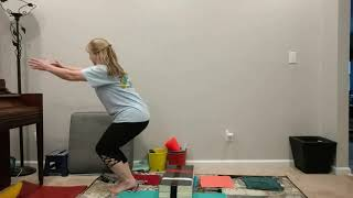 Preschool Squat and Hurdle Drills