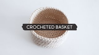 DIY Crocheted Basket