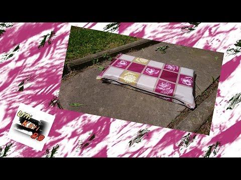 Garten Kniekissen nähen Anleitung Kissen Gartenarbeit Unkraut DIY Upcycling #UniKati89
