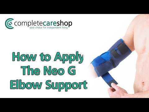 Applying The Neo G Elbow Support
