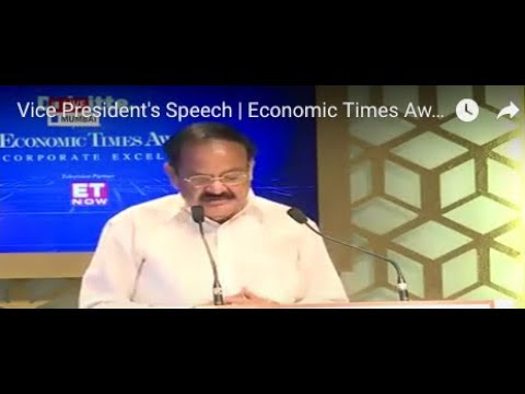Vice President's Speech | Economic Times Awards for Corporate Excellence