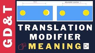 GD&T: Translation Modifier Application