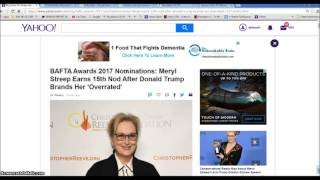 Jan 15 Merryl Streep Donald Trump Israel Paris Illuminati Freemason Symbolism