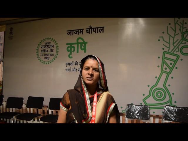 "Savitri ji, Chairperson of Samridhi Mahila Crop Producer Co Ltd sharing her experience of doing Future Trading. ""खड़ी फसल को ही हम एक fixed भाव में भेज सके"""