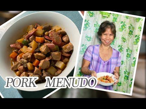 HOW TO COOK PORK MENUDO | FILIPINO RECIPE | Mama Lyn sweet & Jen vlogs #25