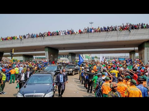Download President Muhammadu Buhari During His Visit To Lagos State For APC Presidential Campaign Rally Today HD Mp4 3GP Video and MP3