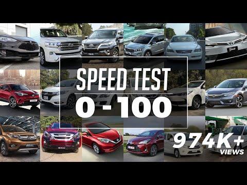 0-100 Speed Test in Pakistan