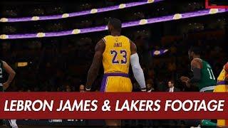 NBA LIVE 19 - LAKERS vs CELTICS Gameplay   Player Ratings Revealed