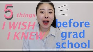5 things I wish I knew before starting grad school (school psychology)