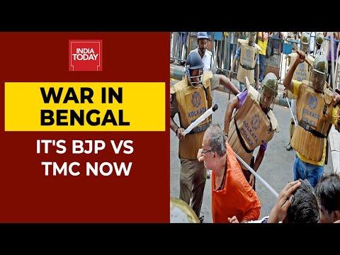 भाजपा बनाम टीएमसी युद्ध बदले में पश्चिम बंगाल: Shajia इल्मी & amp; विश्वजीत देब & # 39; रों गरम बहस   घड़ी