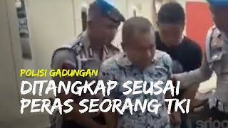 Video Penangkapan Polisi Gadungan di Palembang yang Memeras Seorang TKI