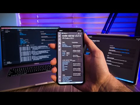 VS Code on my Phone for Website Dev... (How I did it)