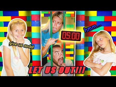 PARENTS Only GIANT LEGO Escape Room FORT! CLUE Giver Gets SODA!