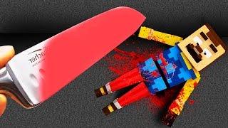 Minecraft - HELLO NEIGHBOR - Glowing 1000 degree KNIFE VS NEIGHBOR! (EXPERIMENT)