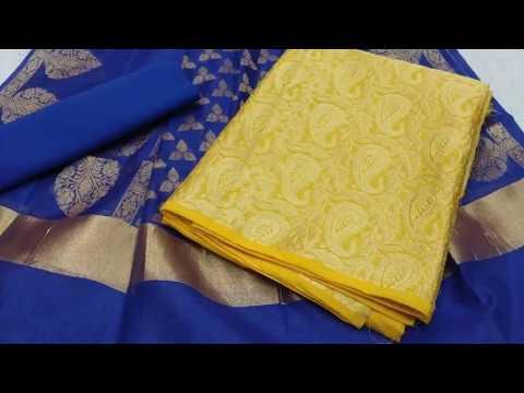 9d5f38fe1b Banarasi Silk Suit Materials || Latest Brocade Dress Materials (2018)